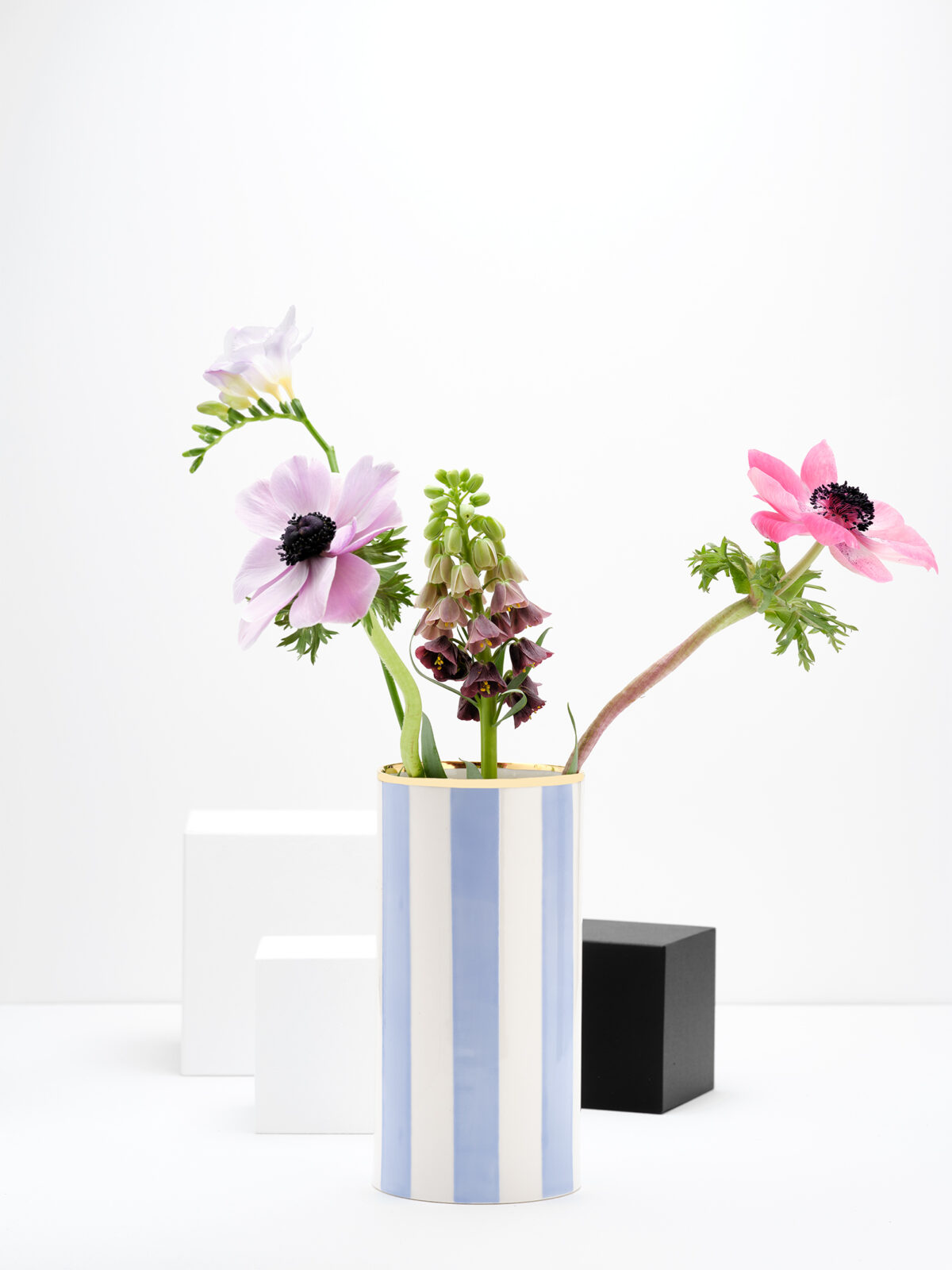 Spoil yourself striped vase
