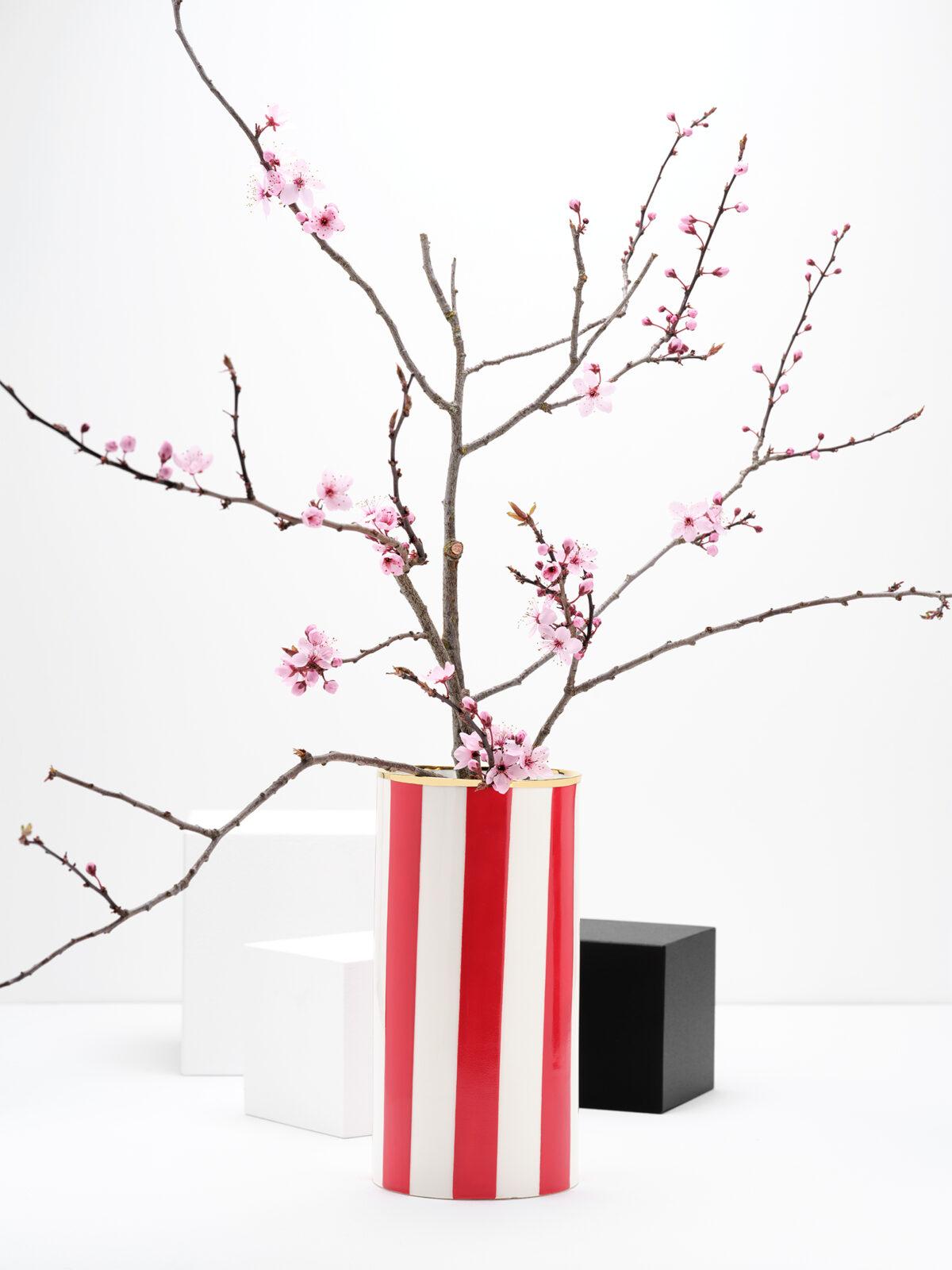 Spoil yourself striped vase